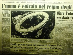 Новость о первом спутнике земли