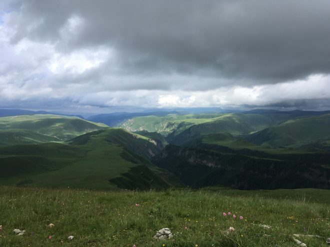 гора Тузлук, вид с вершины