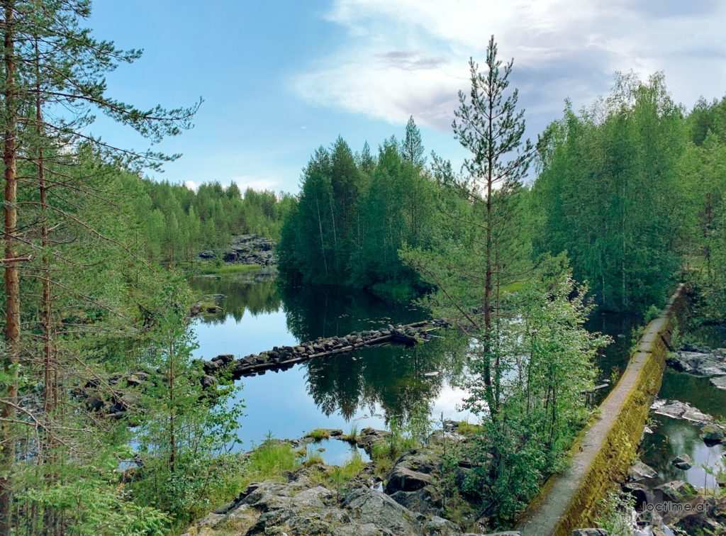 Гирвас. Плотина для лесосплава, Поор-порог.