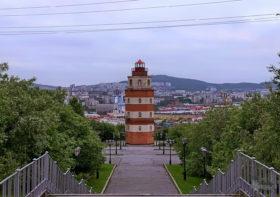 мурманск, памятник морякам погибшим в мирное время, маяк