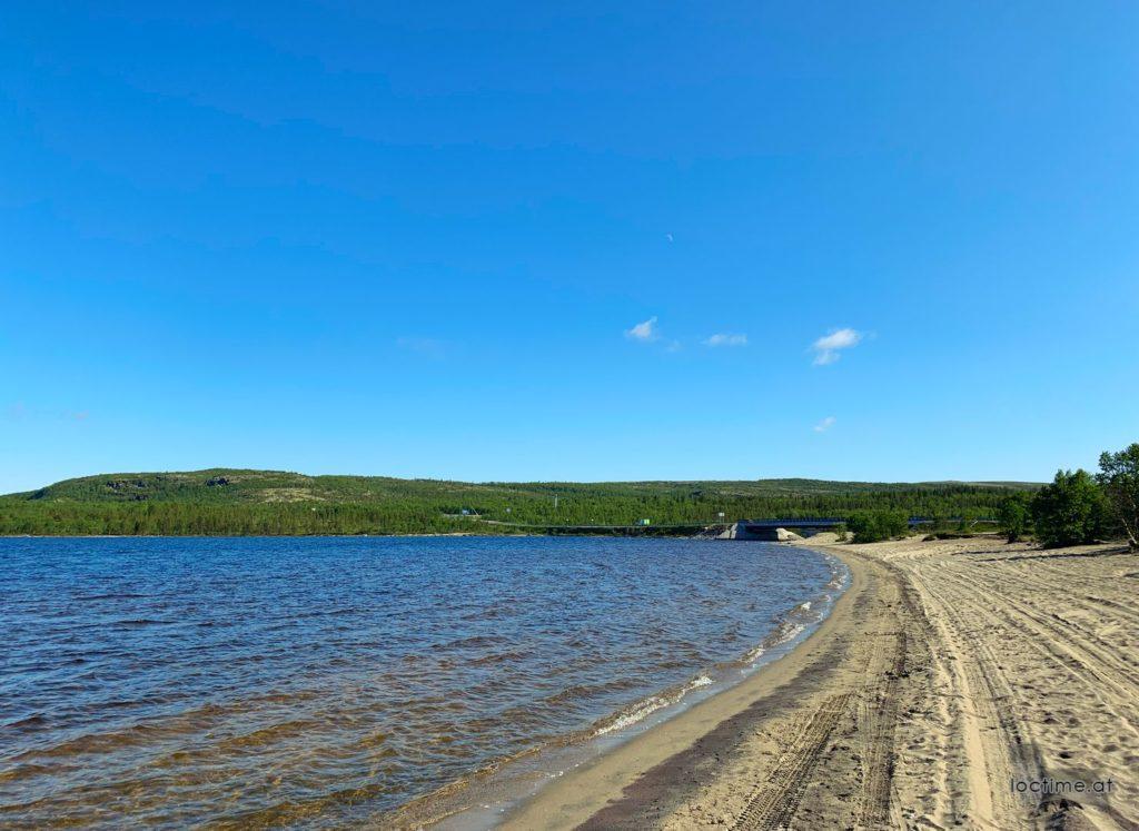 пляж на реке Ура